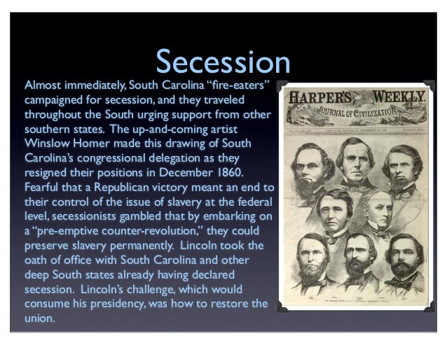 Sectional Controversy, Civil War and Reconstruction