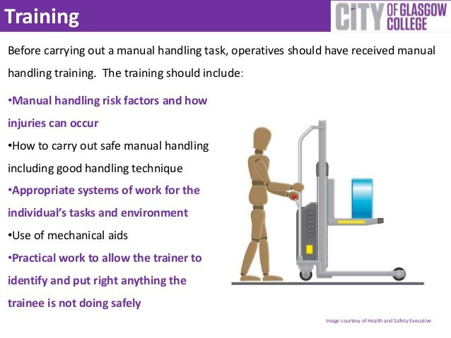 health and safety manual handling guidelines
