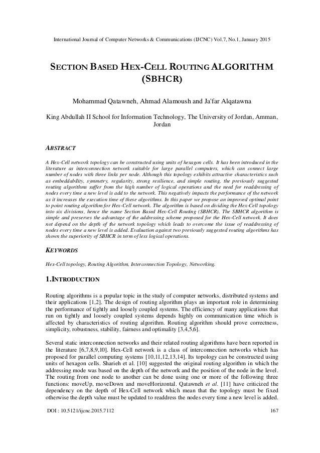 International Journal of Computer Networks & Communications (IJCNC) Vol.7, No.1, January 2015 DOI : 10.5121/ijcnc.2015.711...