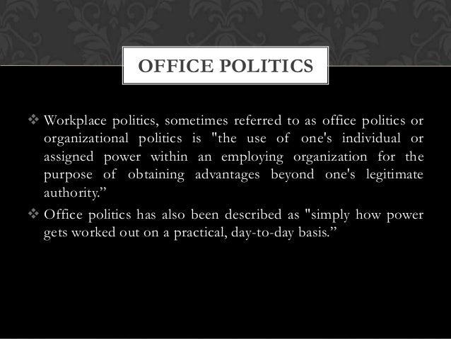 Dealing office politics