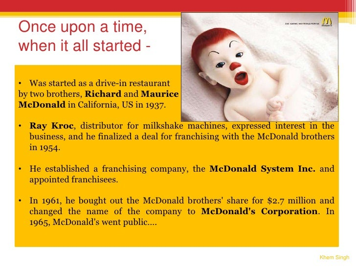 mcdonalds distinctive competencies