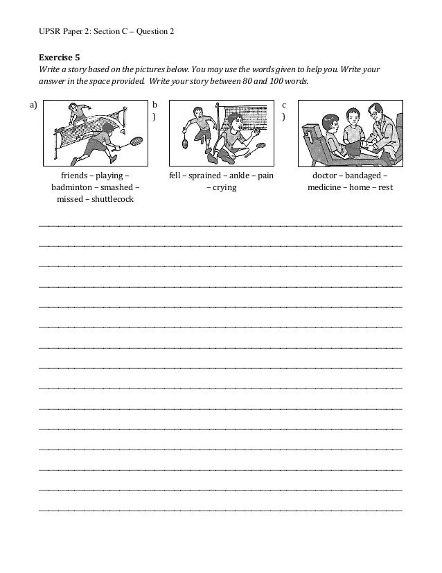 Upsr English exercise and Answer