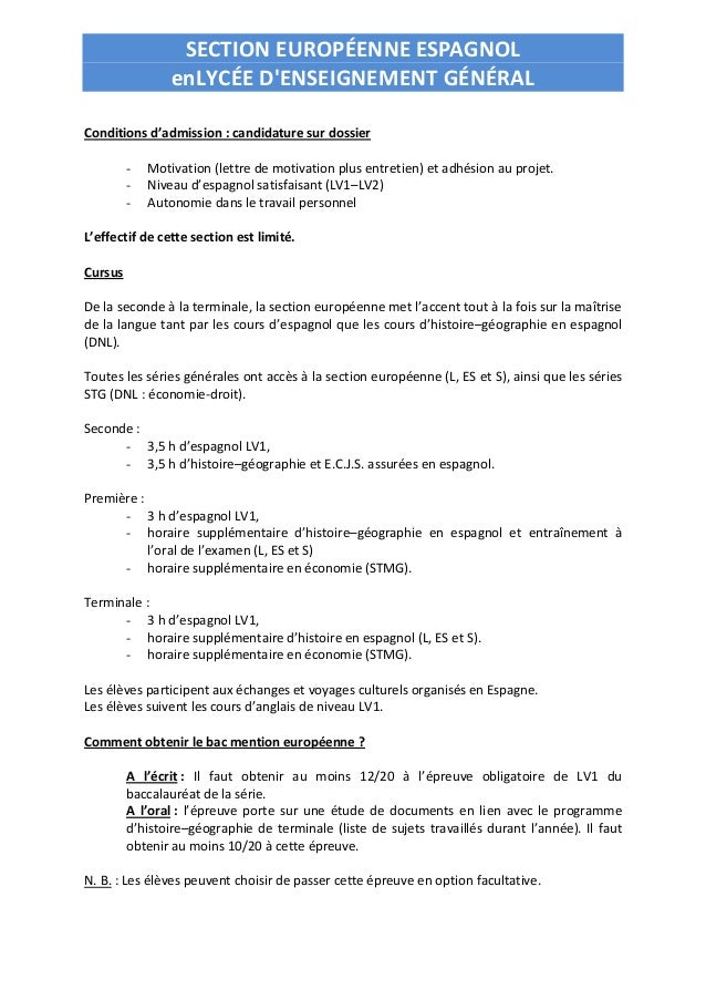 exemple lettre de motivation classe euro anglais Lettre De Motivation Anglais Euro | dedooddeband exemple lettre de motivation classe euro anglais