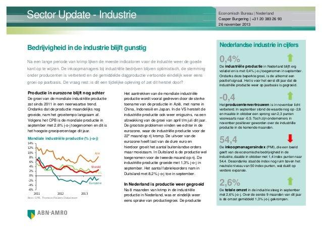 Sector Update - Industrie Bedrijvigheid in de industrie blijft gunstig Na een lange periode van krimp lijken de meeste ind...