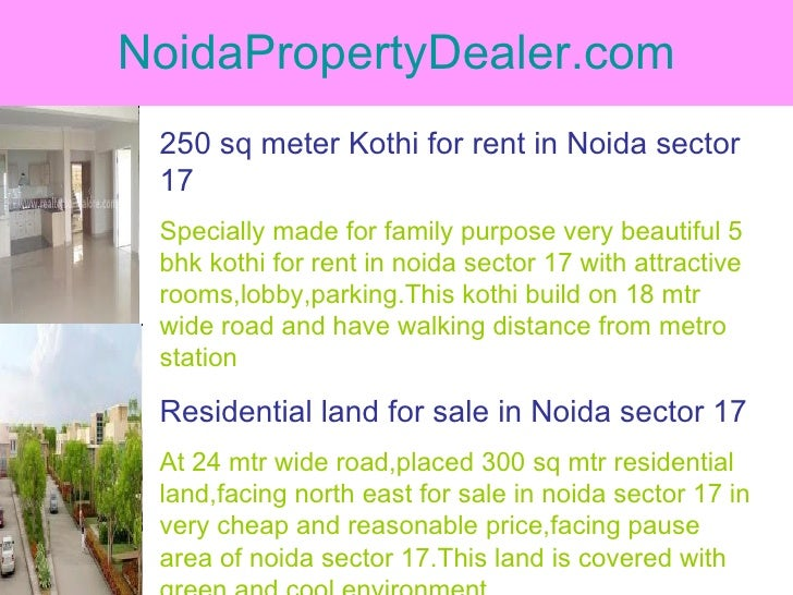 NoidaPropertyDealer.com 250 sq meter Kothi for rent in Noida sector 17 Specially made for family purpose very beautiful 5 ...