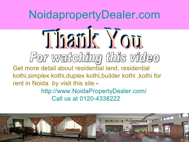 NoidapropertyDealer.com Thank You For watching this video Get more detail about residential land, residential  kothi,simpl...