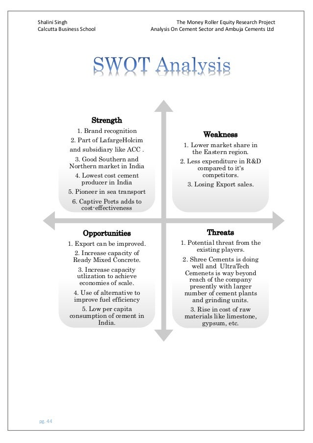 swot analysis of rollerblade Chapter 5 strategic planning and swot analysis i skate where the puck is going to be, not where it has been —wayne gretzky key terms and concepts force field analysis.