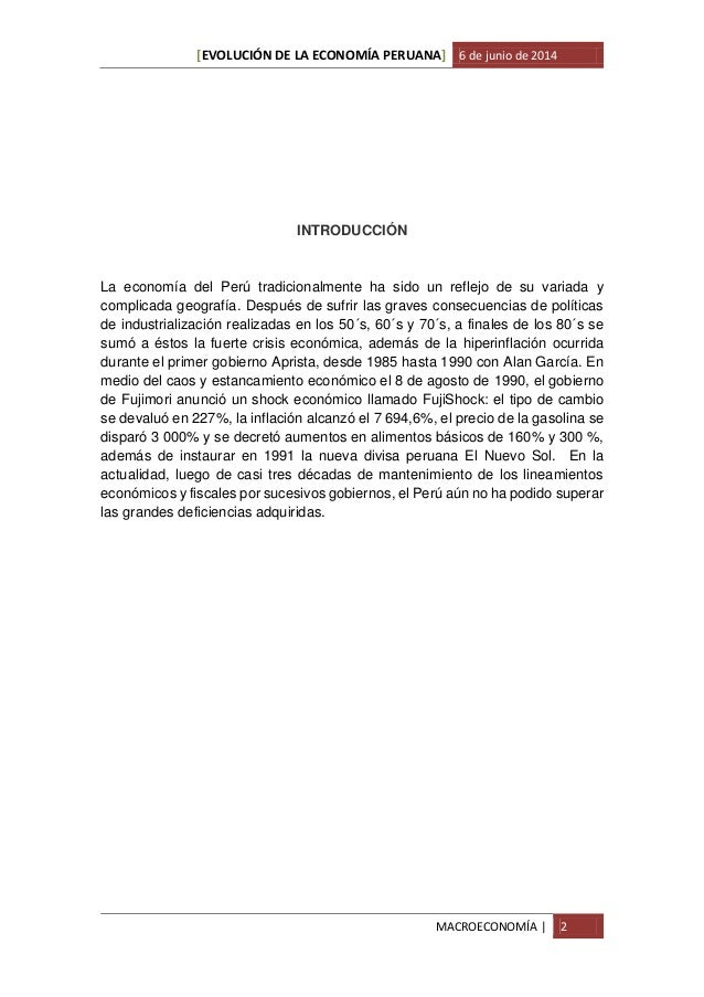 Evolución de la economía peruana Slide 3