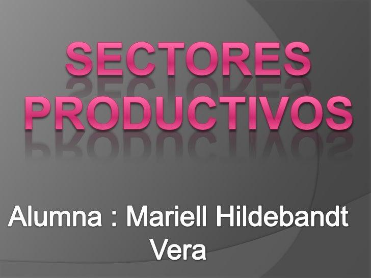 Sectores productivos <br />Alumna : MariellHildebandt Vera<br />