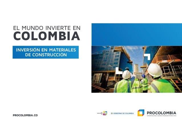 INVERSIÓN EN MATERIALES DE CONSTRUCCIÓN