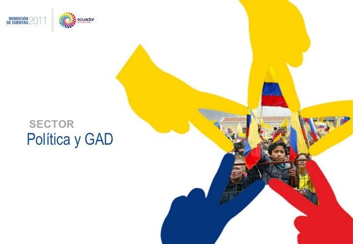 Política y GAD SECTOR
