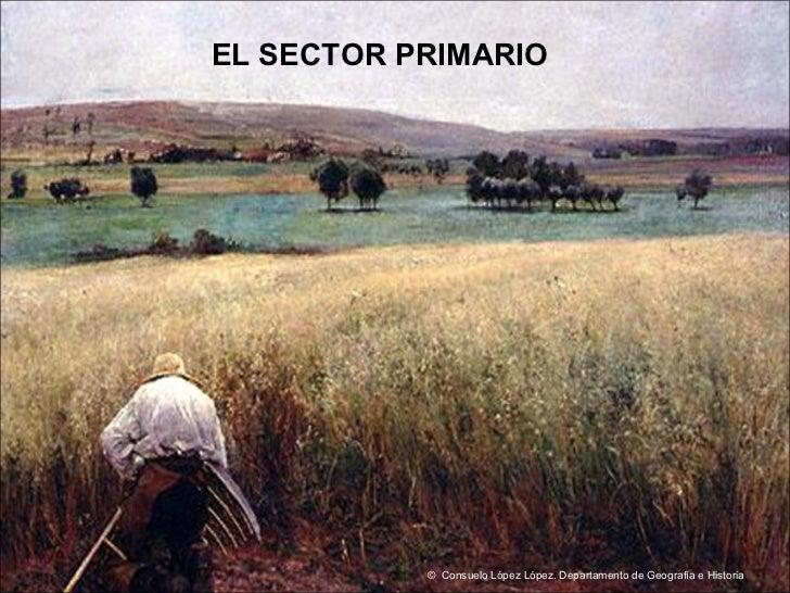 EL SECTOR PRIMARIO ©  Consuelo López López. Departamento de Geografía e Historia