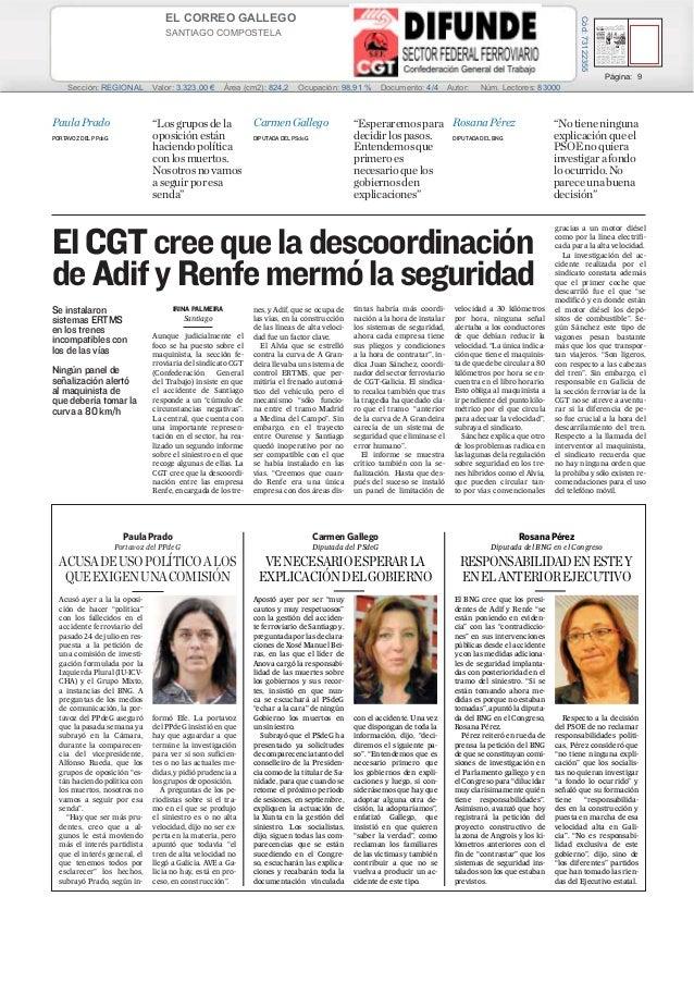 06/08/13EL CORREO GALLEGO SANTIAGO COMPOSTELA Prensa: Diaria Tirada: 27.472 Ejemplares Difusión: 22.735 Ejemplares Página:...