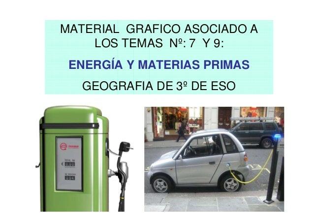 MATERIAL GRAFICO ASOCIADO A    LOS TEMAS Nº: 7 Y 9: ENERGÍA Y MATERIAS PRIMAS   GEOGRAFIA DE 3º DE ESO