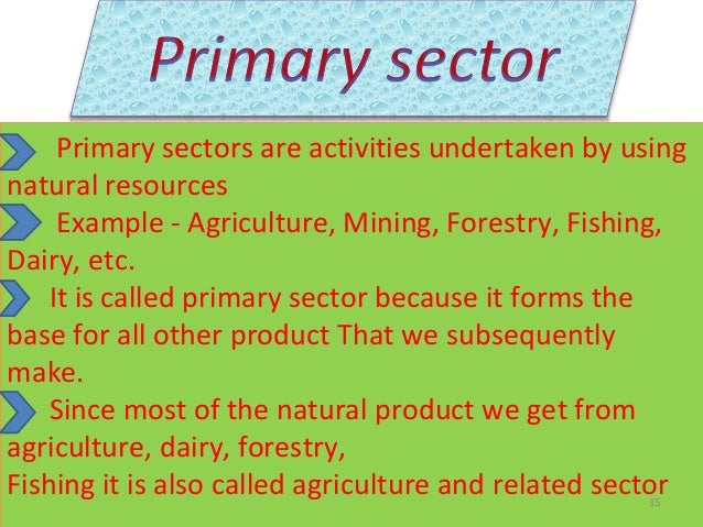 advantages of primary sector in indian economy Primary sector of the economy the primary sector is concerned with the extraction of raw materials it includes fishing, farming and mining (02) india: 413 (-.