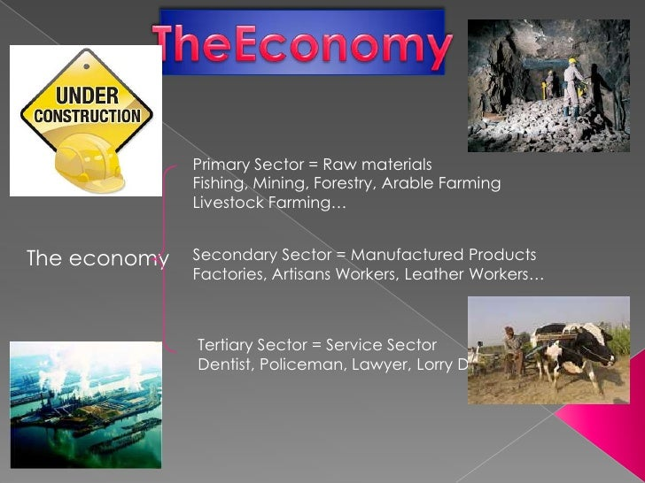 Primary Sector = Raw materials              Fishing, Mining, Forestry, Arable Farming              Livestock Farming…The e...