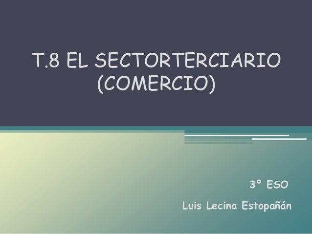 Luis Lecina Estopañán T.8 EL SECTORTERCIARIO (COMERCIO) 3º ESO
