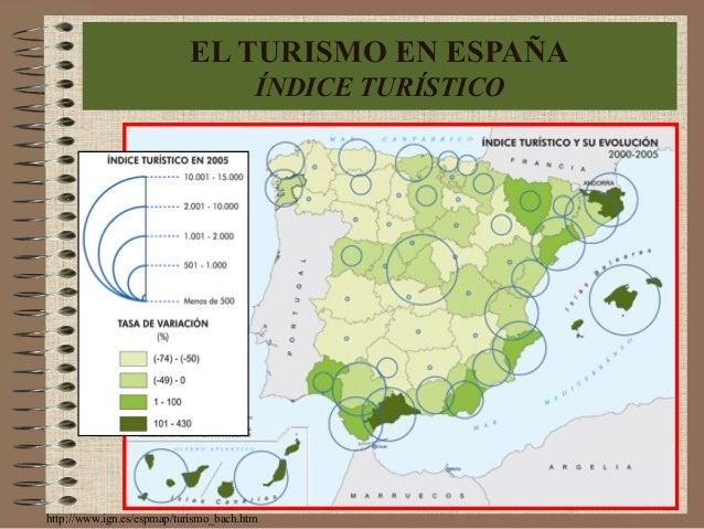 http://www.ign.es/espmap/turismo_bach.htm EL TURISMO EN ESPAÑA ÍNDICE TURÍSTICO