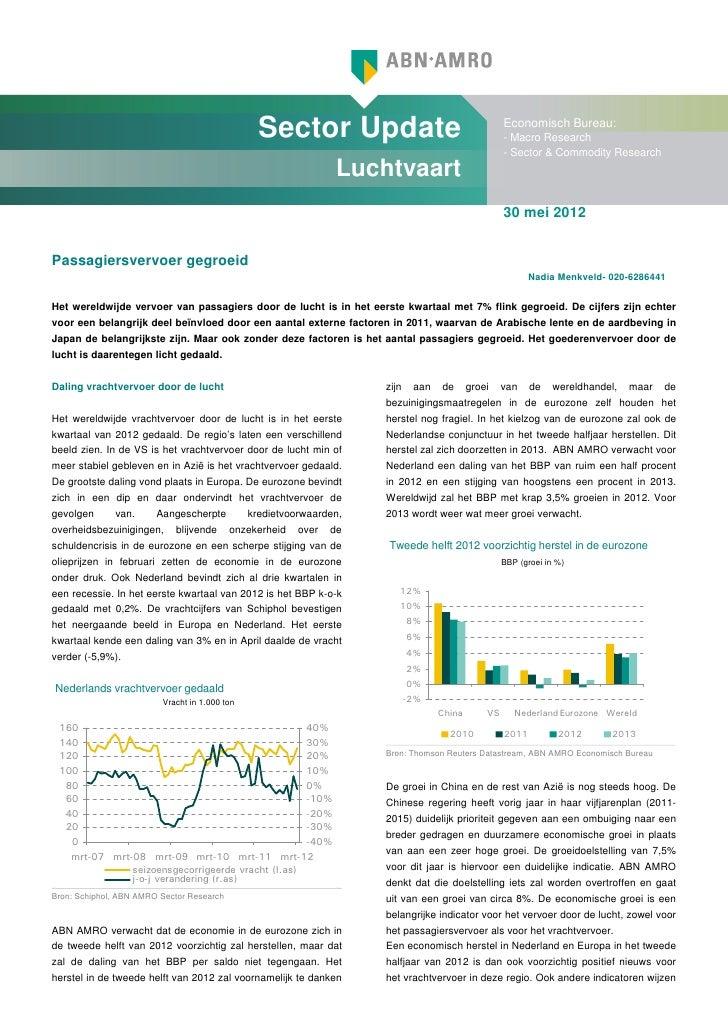 Sector Update                                      Economisch Bureau:                                                     ...