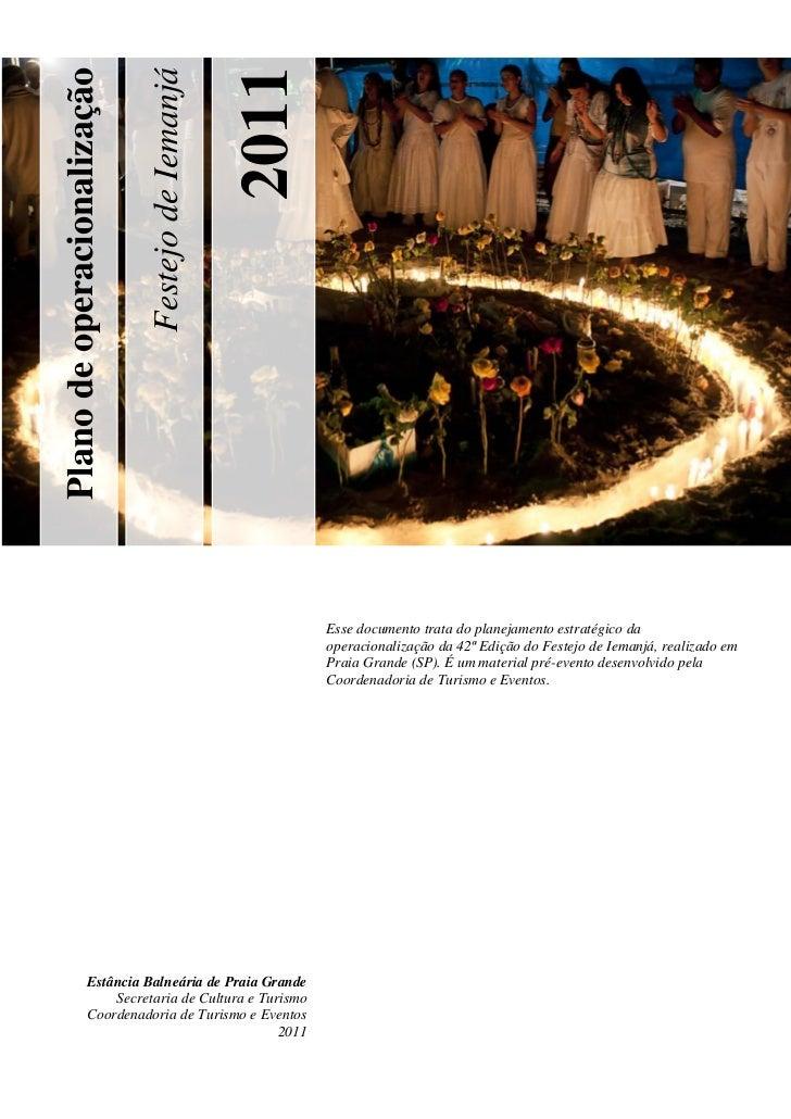 2011                             Festejo de IemanjáPlano de operacionalização                                             ...