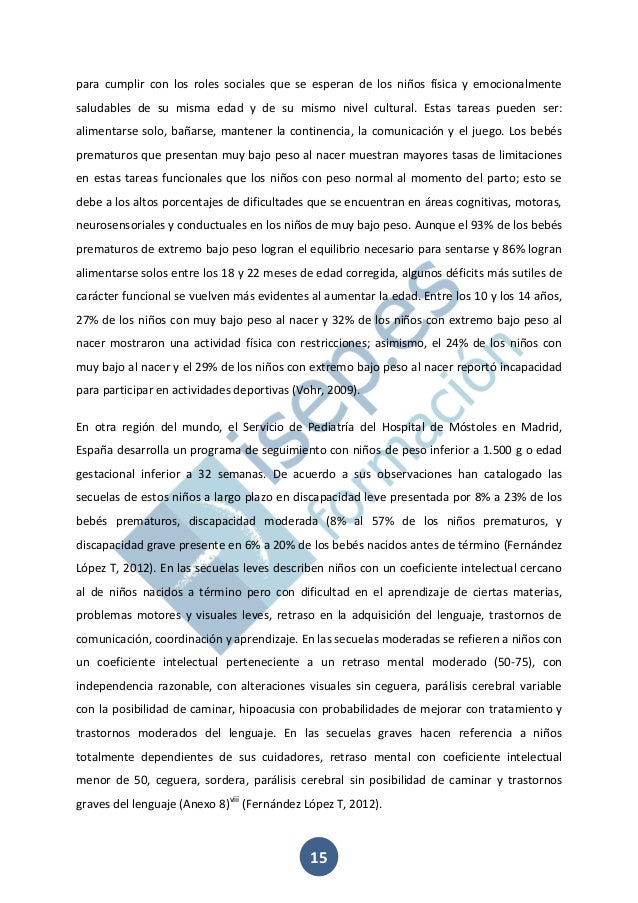 Secuelas Cognitivas Motoras Y Conductuales En Infantes De