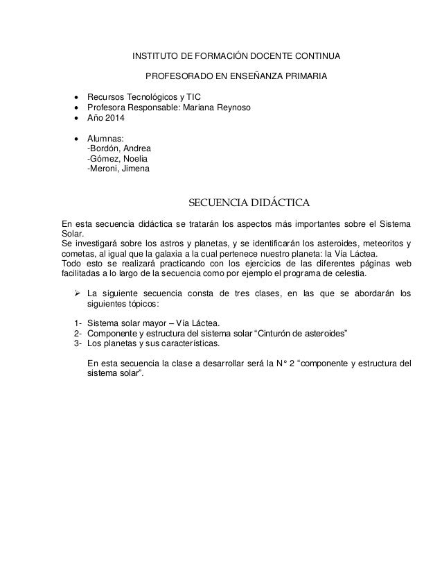 INSTITUTO DE FORMACIÓN DOCENTE CONTINUA PROFESORADO EN ENSEÑANZA PRIMARIA  Recursos Tecnológicos y TIC  Profesora Respon...