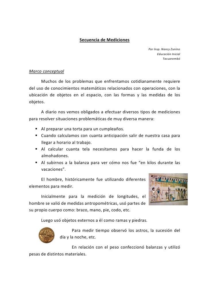 Secuencia de Mediciones                                                               Por Insp. Nancy Zunino              ...