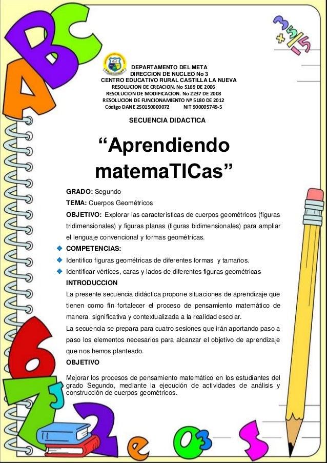 Secuencia didactica. CUERPOS GEOMETRICOS Slide 3