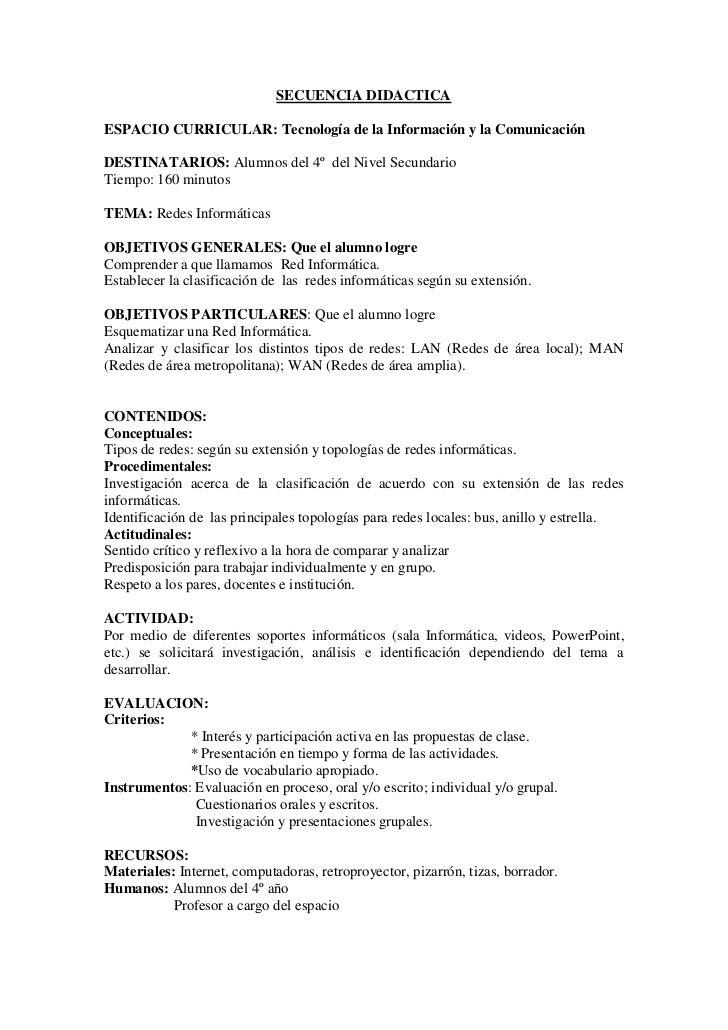 Secuencia Didactica De Tic 2 Pdf
