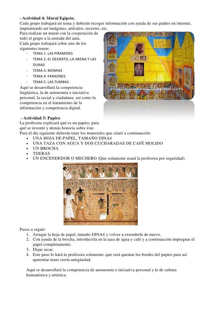 Secuencia didactica egipto