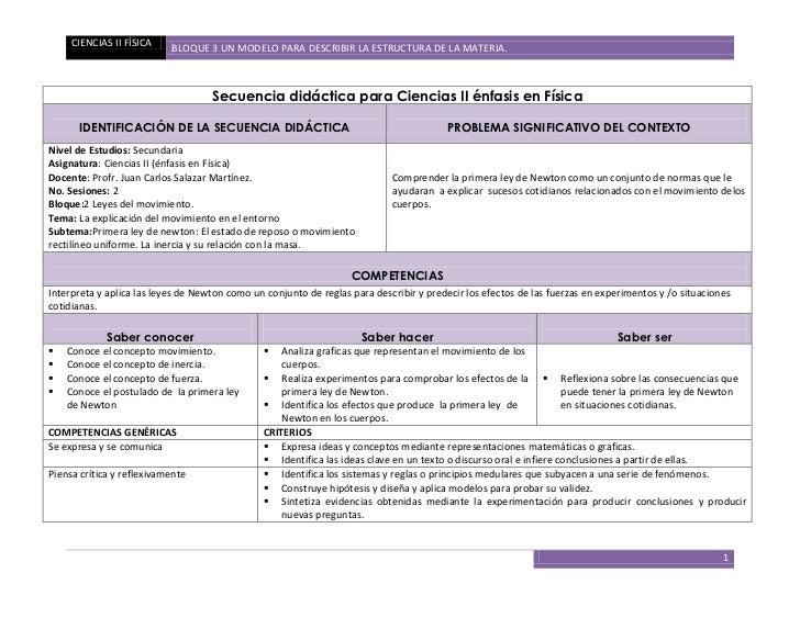 CIENCIAS II FÍSICA    BLOQUE 3 UN MODELO PARA DESCRIBIR LA ESTRUCTURA DE LA MATERIA.                                    Se...