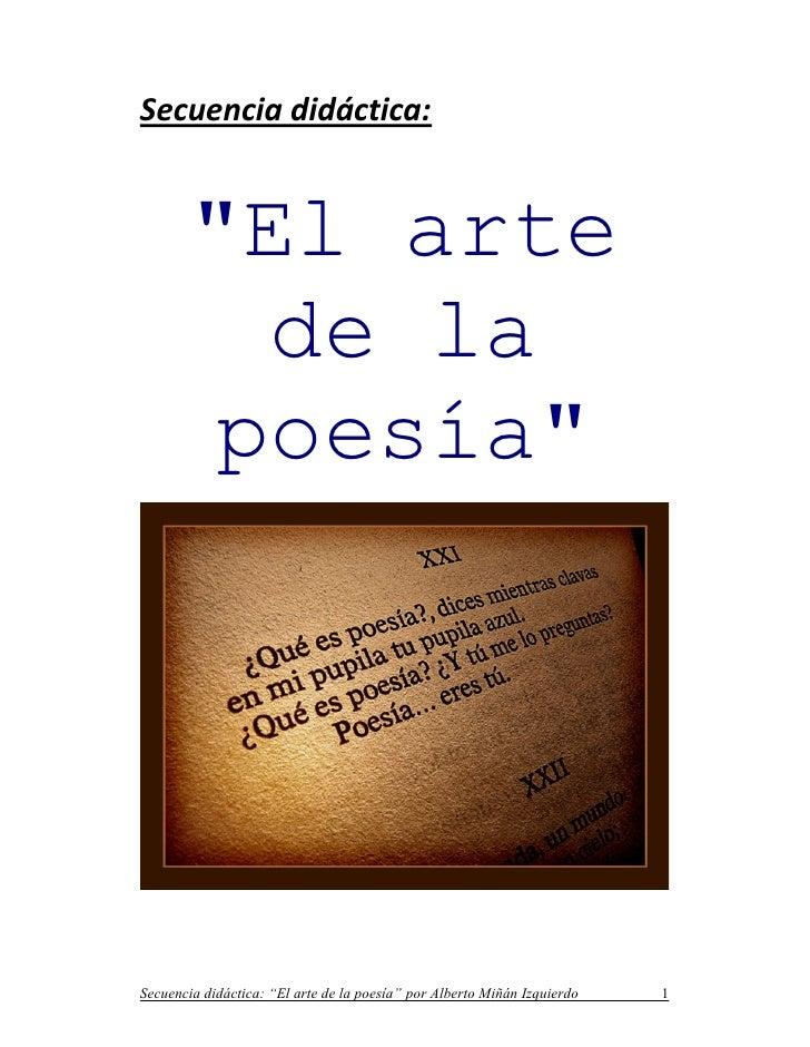 """Secuencia didáctica: """"El arte de la poesía"""""""