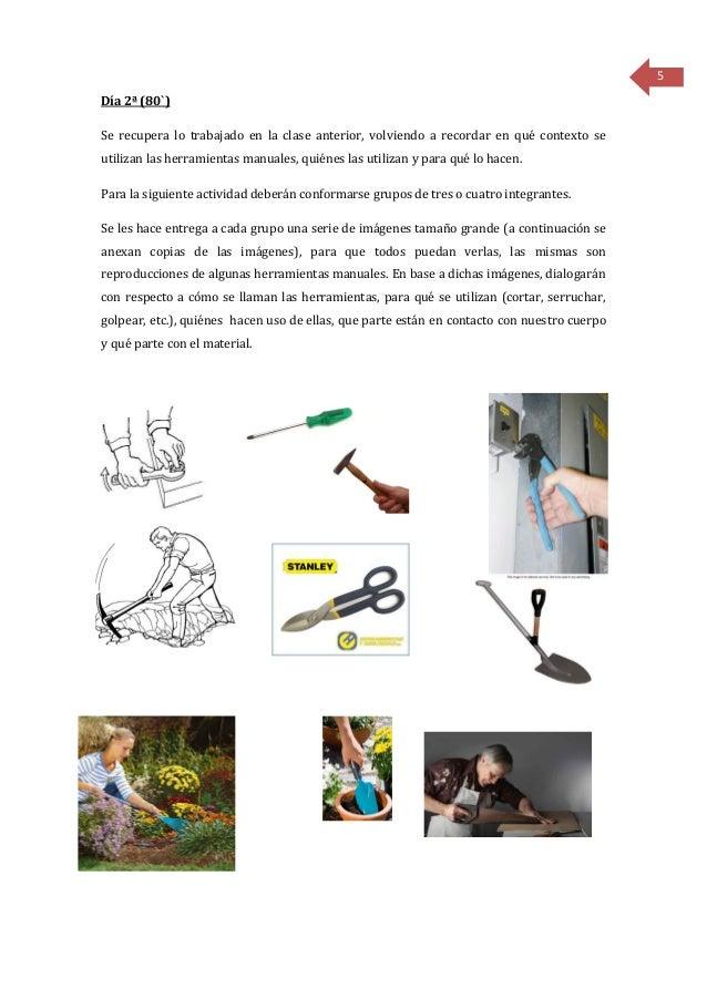 Secuencia didáctica Tecnología-herramientas manuales 1º grado