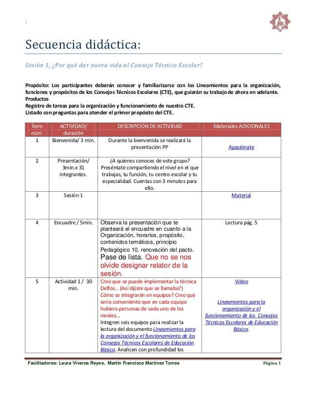 . Facilitadores: Laura Viveros Reyes, Martin Francisco Martínez Torres Página 1 Secuencia didáctica: Sesión 1, ¿Por qué da...