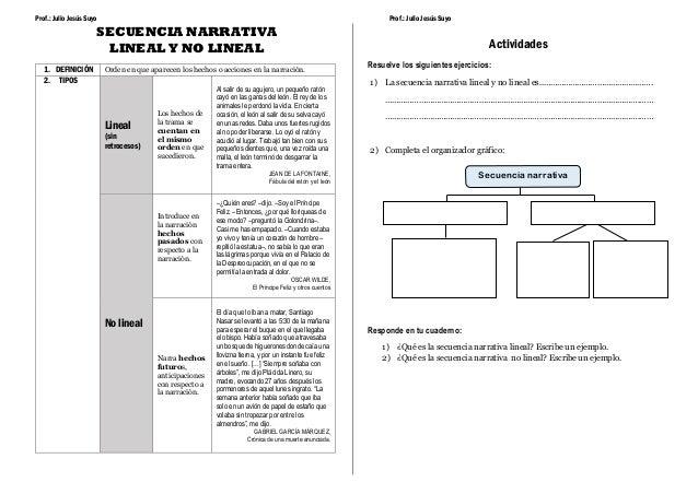 Secuencia Narrativa Lineal Y No Lineal