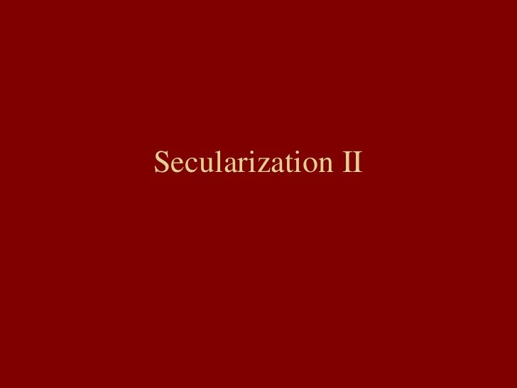 marx secularization thesis About the secularization thesis has been accompanied sociology from karl marx's theory of alienation and religion and contemporary sociological theories.