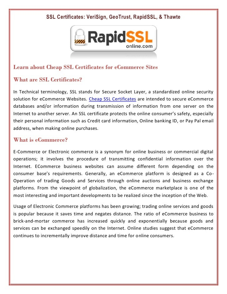 How To Choose Suitable Ssl Certificate Security For E Business Rapid