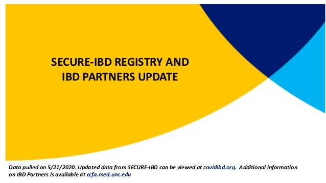 Welcome Brent Polk, MD SECURE-IBD REGISTRY AND IBD PARTNERS UPDATE Data pulled on 5/21/2020. Updated data from SECURE-IBD ...