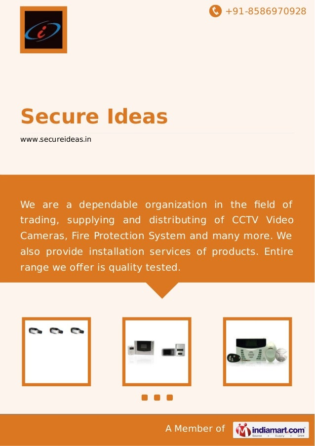 +91-8586970928  Secure Ideas www.secureideas.in  We are a dependable organization in the field of trading, supplying and di...