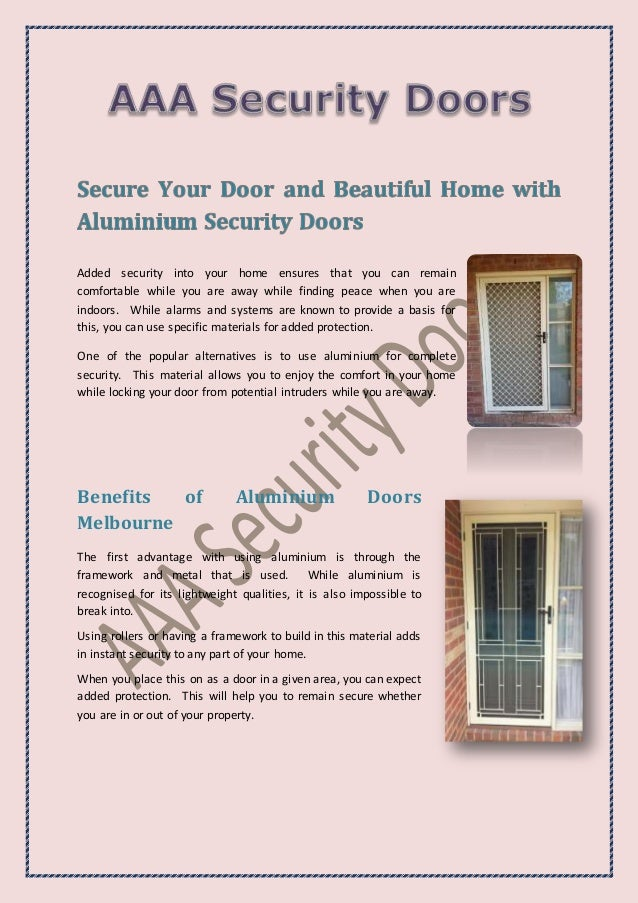 Added security into your home ensures that you can remain comfortable while you are away while finding peace when you are ...