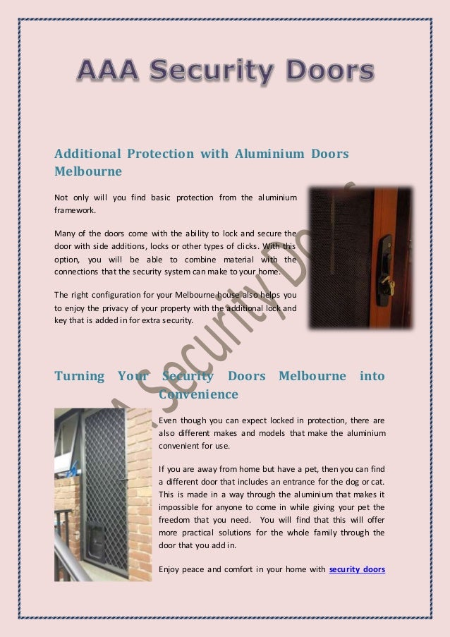 Secure Your Door and Beautiful Home with Aluminium Security Doors Slide 2