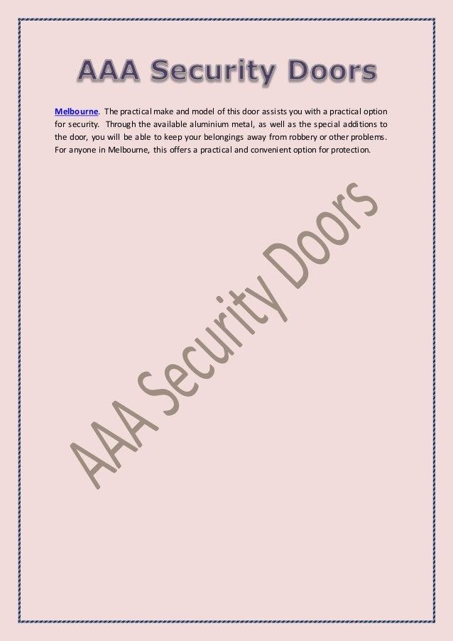 Secure Your Door and Beautiful Home with Aluminium Security Doors Slide 3
