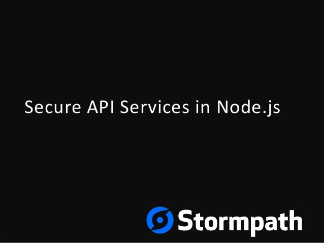 Secure API Services in Node with Basic Auth and OAuth2