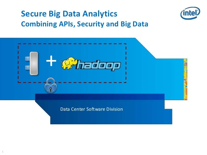 Secure Big Data Analytics    Combining APIs, Security and Big Data           +               Data Center Software Division1
