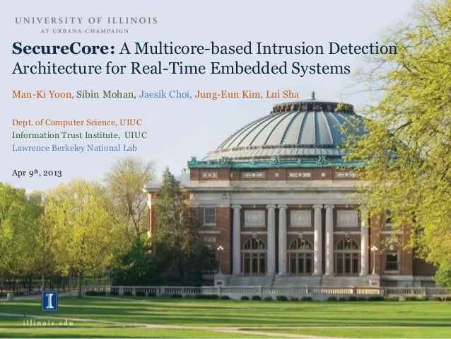 SecureCore: A Multicore-based Intrusion Detection Architecture for Real-Time Embedded Systems Man-Ki Yoon, Sibin Mohan, Ja...