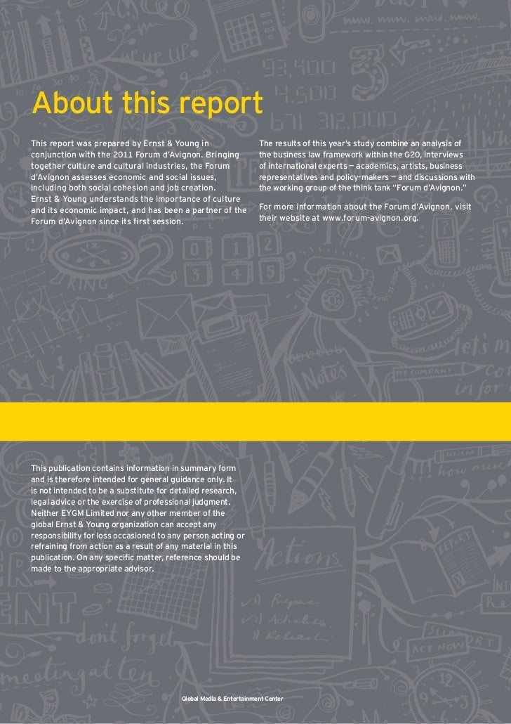 report on ernst young Ernst & young llp revenue and financial data – get complete financial information for ernst & young llp from hoover's track its historical financial performance.