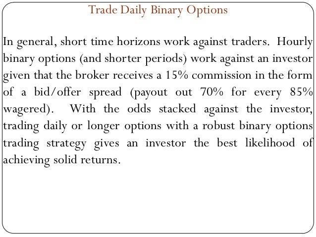 Binary auto trade signals
