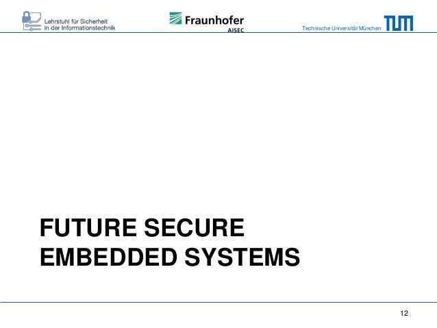 Secure Embedded Systems