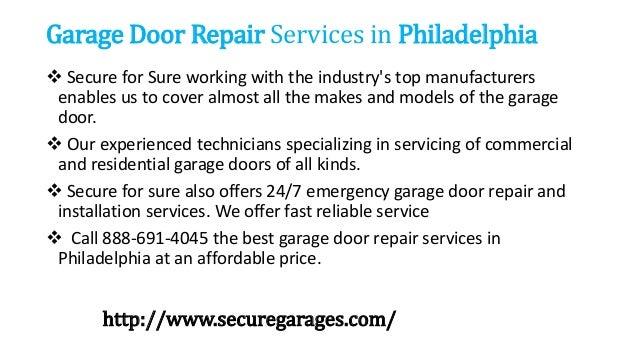 ... 3. Garage Door Repair Services in Philadelphia ...  sc 1 st  SlideShare & Garage door repair service pezcame.com