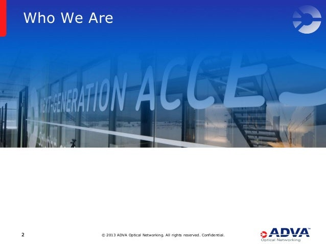 Secure, High Performance Transport Networks Based on WDM Technology Slide 2